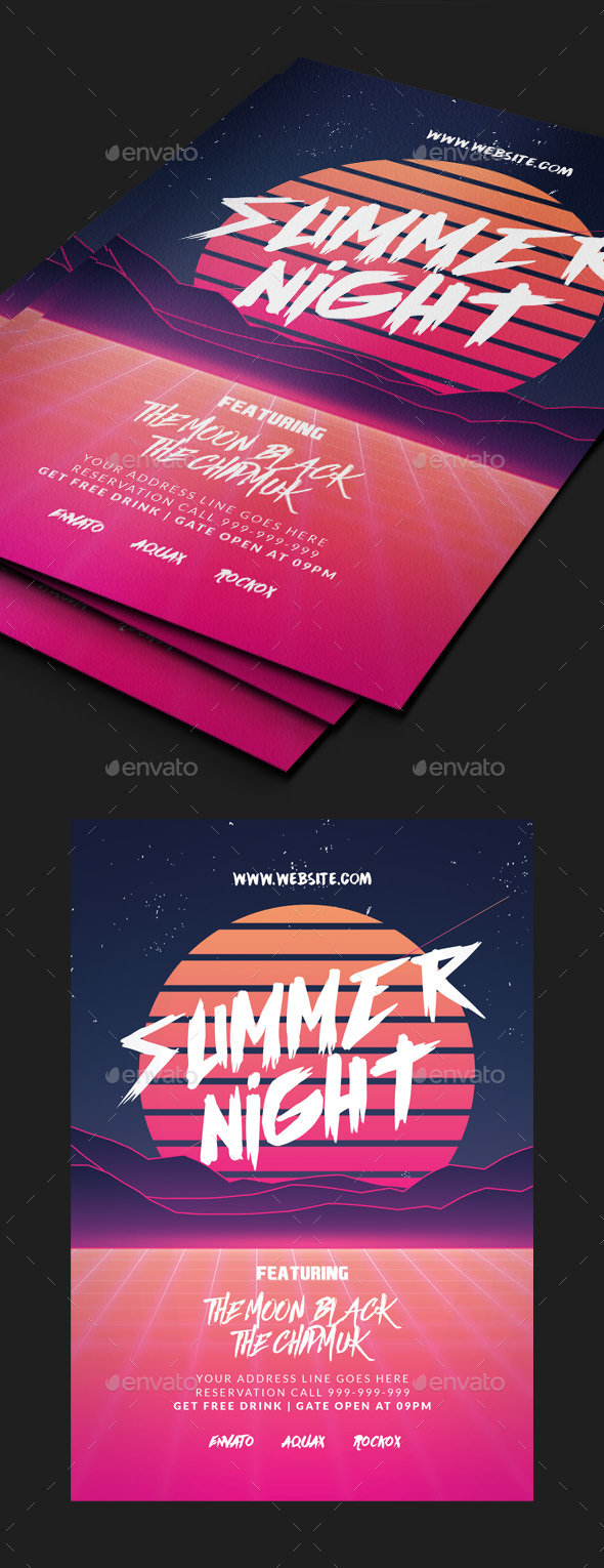 GraphicRiver Summer Party Flyer 20437446