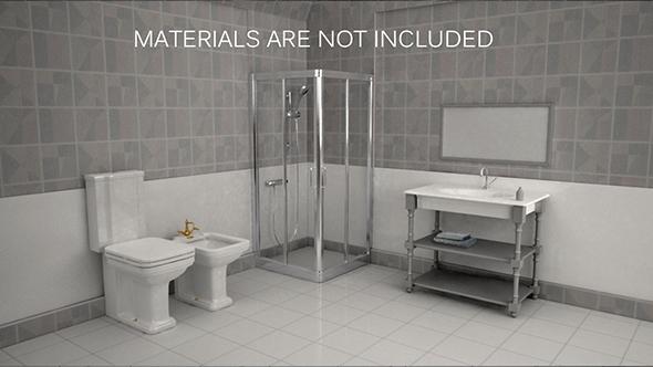 Bathroom Interior - 3DOcean Item for Sale