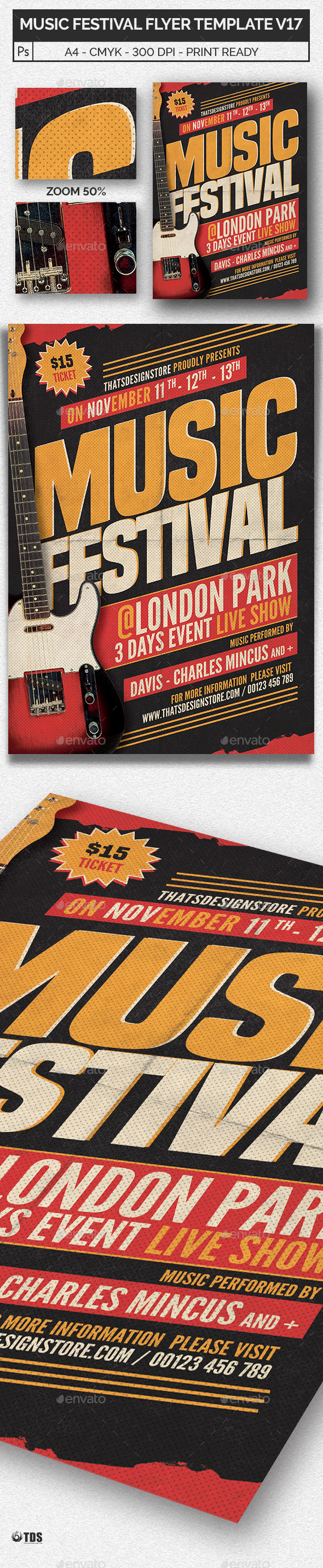 GraphicRiver Music Festival Flyer Template V17 20437490