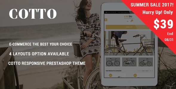 Cotto - Bike Store Responsive Prestashop Theme