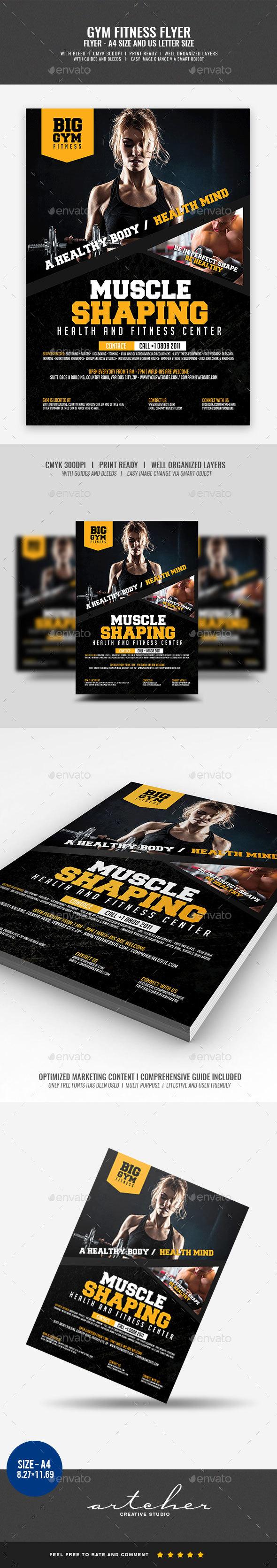 GraphicRiver Gym Flyer 20437569