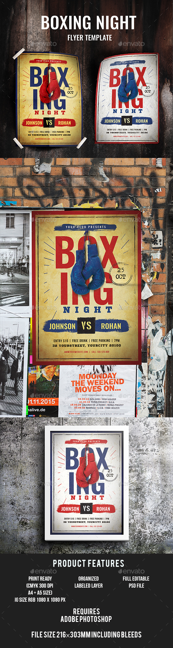 GraphicRiver Boxing Flyer 20437583