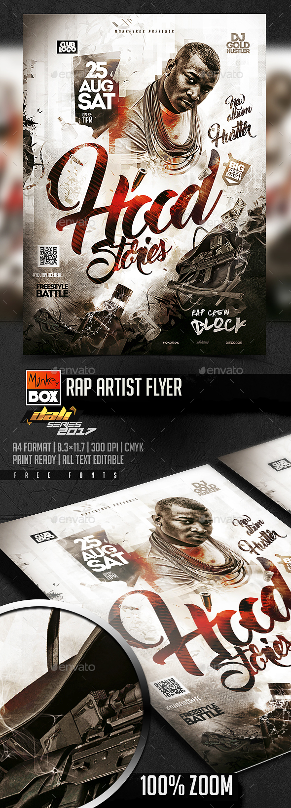 GraphicRiver Rap Artist Flyer 20437587