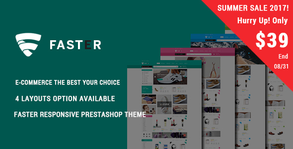 Faster - Shopping Responsive Prestashop Theme