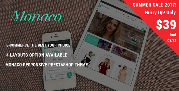Monaco - Fashion Responsive Prestashop Theme - Fashion PrestaShop