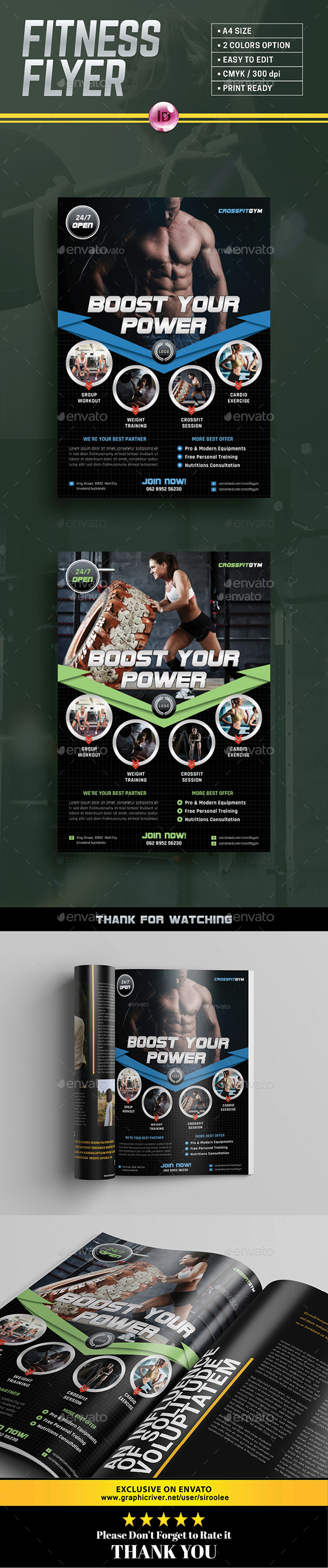 GraphicRiver Gym Flyer 20437643