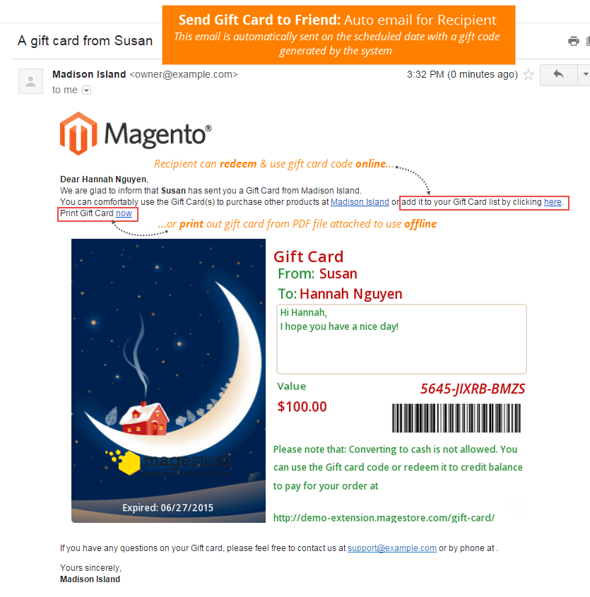 Magento Designed Like Amazon's Gift Card by magestoreteam | CodeCanyon