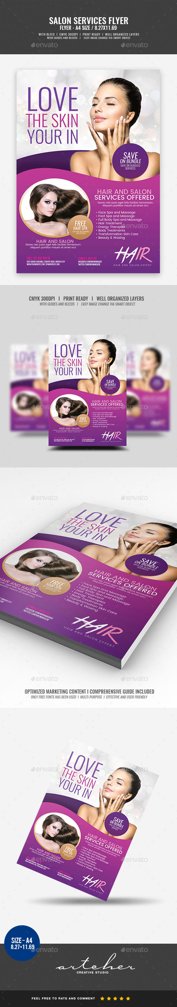 Beauty Salon Flyer - Miscellaneous Events