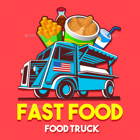 GraphicRiver Food Truck Fast Food Restaurant Delivery Service Vector Logo 20437751
