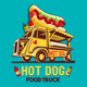 Food Truck Hot Dog Fast Delivery Service Vector Logo - GraphicRiver Item for Sale