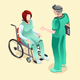Medical Doctor Talking with Patient Vector Isometric People - GraphicRiver Item for Sale