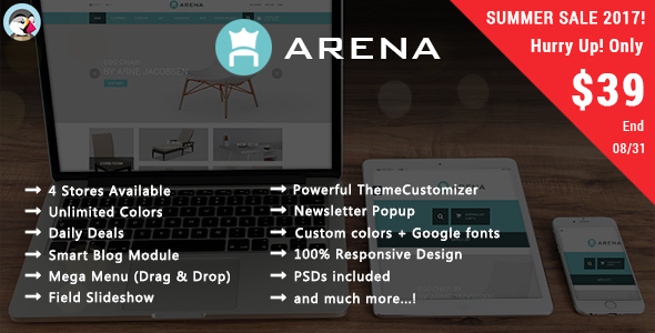 Arena - Furniture Responsive Prestashop Theme