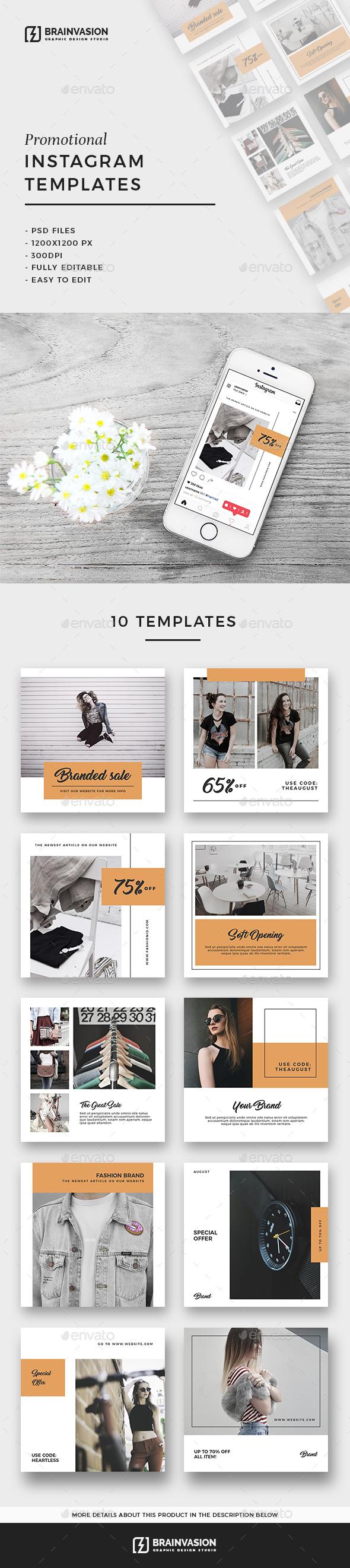 Instagram Templates Vol.03 - Social Media Web Elements