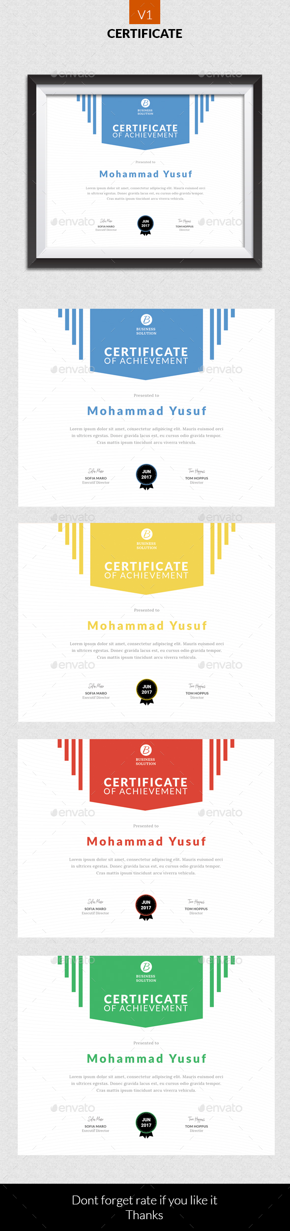 Certificate v1 - Certificates Stationery