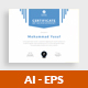 Certificate v1 - GraphicRiver Item for Sale