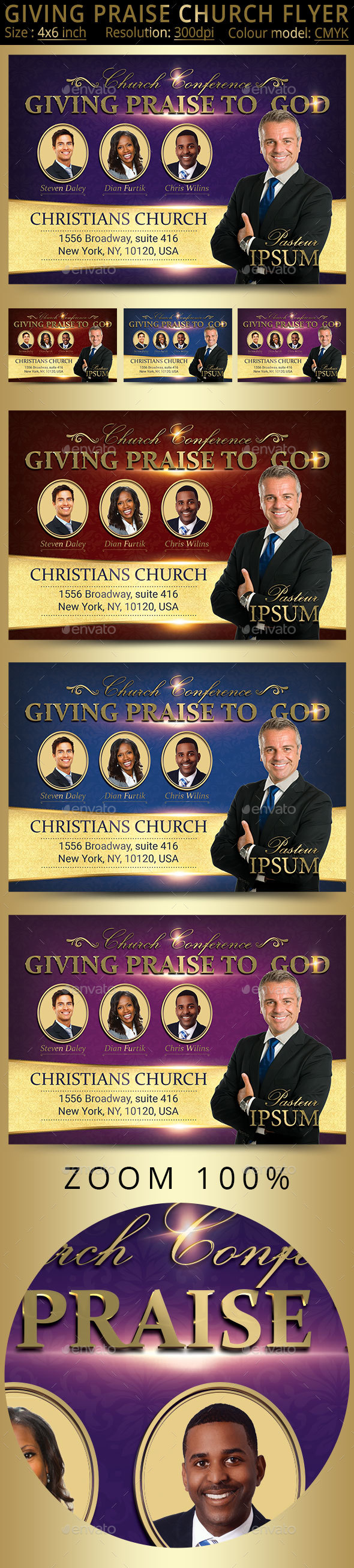 GraphicRiver Giving Praise Church Flyer 20438061