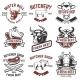 Set of Fresh Beef Labels