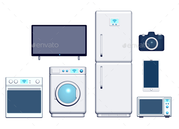 Internet of things appliances front 3d