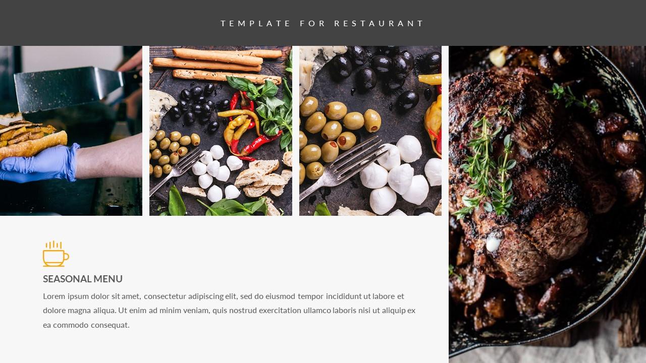 Xesi food powerpoint template by zinstudio graphicriver jpg preview image setslide33 toneelgroepblik Image collections