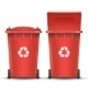 Red Recycling Bin Bucket Vector For Metal Trash