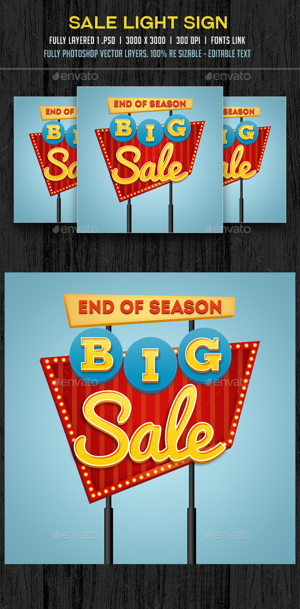 Sale Retro Sign - Banners & Ads Web Elements