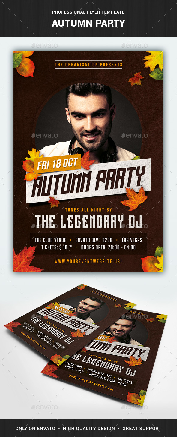 Autumn Flyer Template - Events Flyers