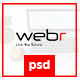 Webr - Clean minimal Creative Psd Template - ThemeForest Item for Sale