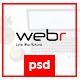 Webr - Clean minimal Creative Psd Template