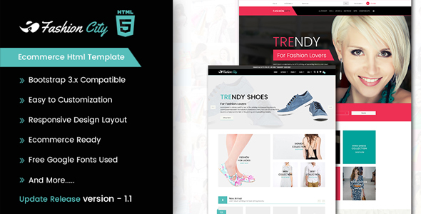 Image of Fashion City - Ecommerce Html Template