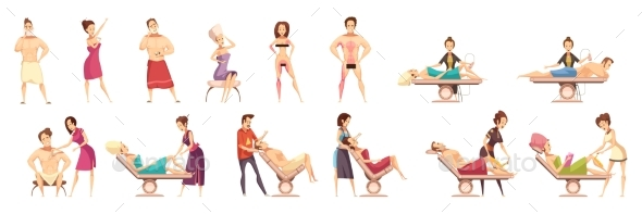Hair Removal Depilation Epilation Icon Set - Health/Medicine Conceptual