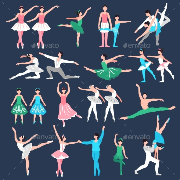 GraphicRiver Ballet Dancers Set 20438799