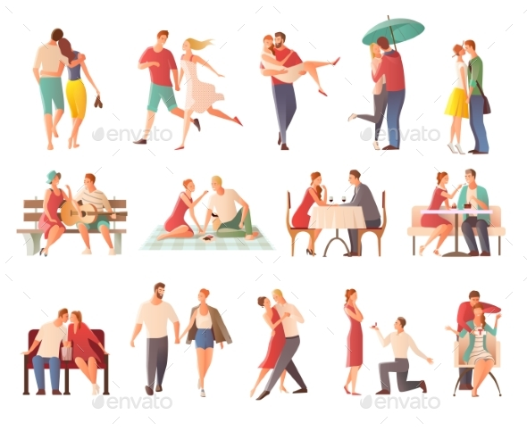 GraphicRiver Dating Couples Big Set 20438812