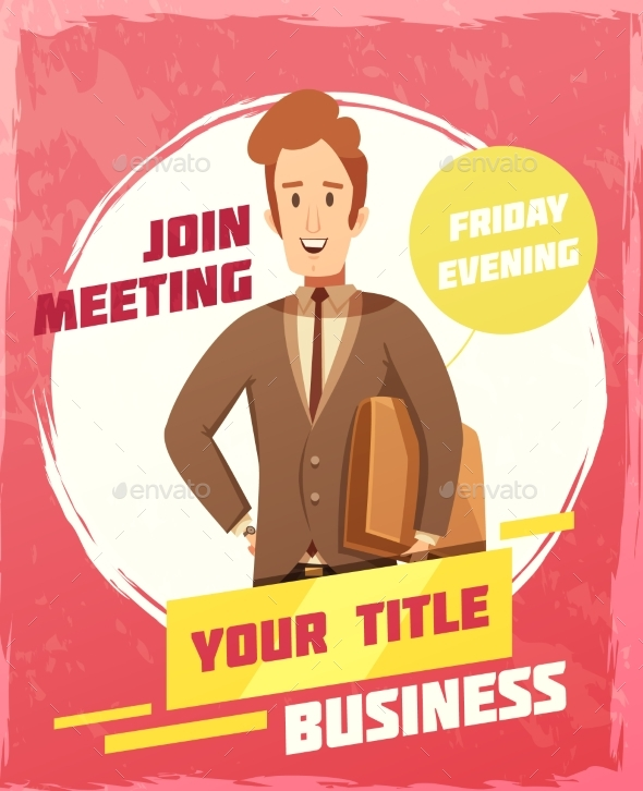 GraphicRiver Business Meeting Poster 20438822