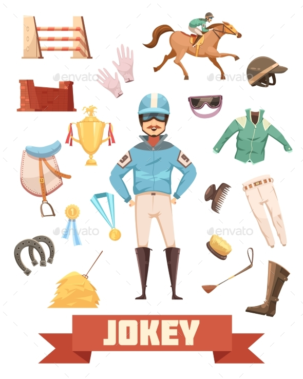 GraphicRiver Jockey Ammunition Decorative Icons Set 20438835