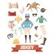 Jockey Ammunition Decorative Icons Set