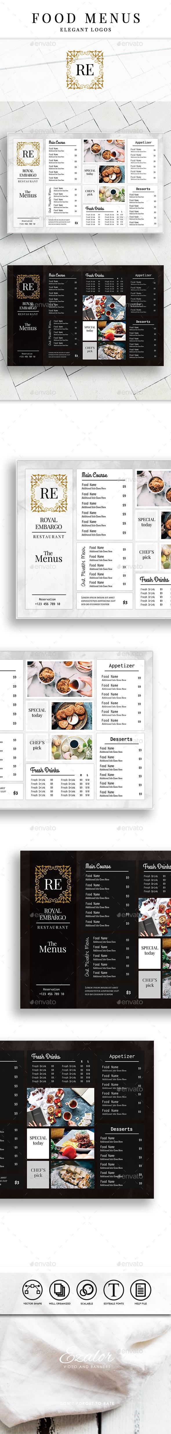 Royal Embargo Food Menu - Food Menus Print Templates