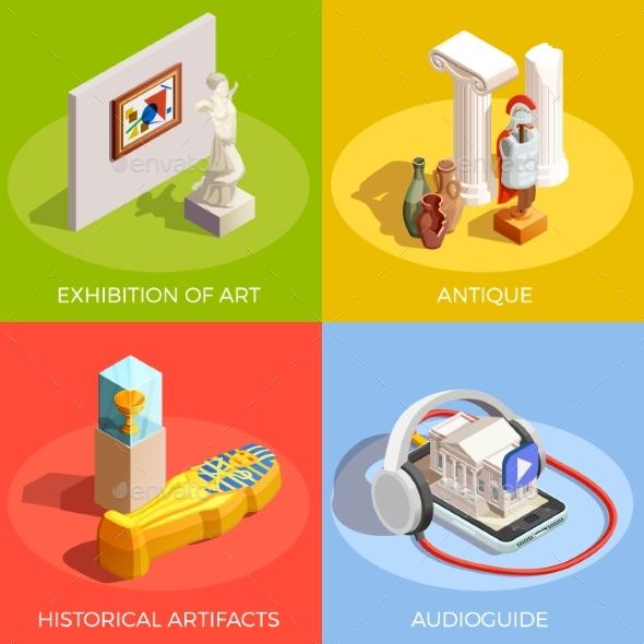 Antique Museum Design Concept - Miscellaneous Vectors