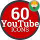 Youtube Online Video Stream - Flat Animated Icons and Elements