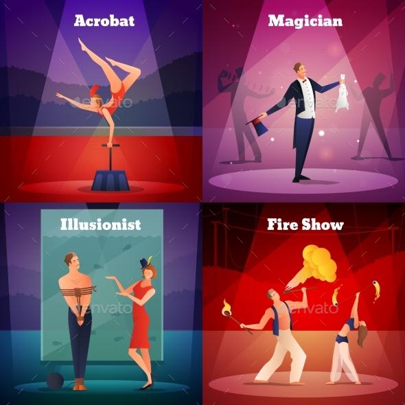 GraphicRiver Magic Show 2X2 Design Concept 20439063