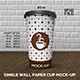 Single Wall Paper Cup Mock-Up Set
