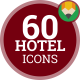 Hotel Service Travel Booking - Flat Animated Icons and Elements