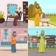 Arabic Woman Concept Icons Set