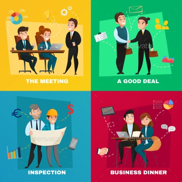 Business People Concept Set - Business Conceptual