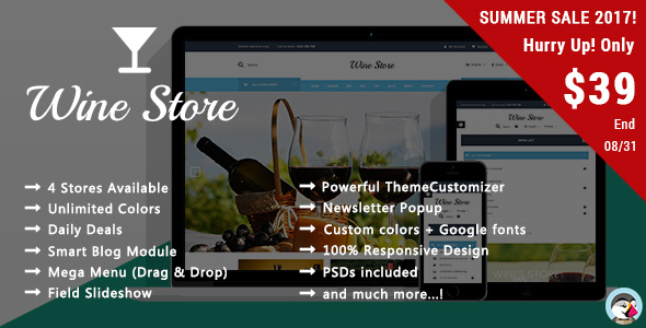 Wine Store - Vineyard Responsive Prestashop Theme