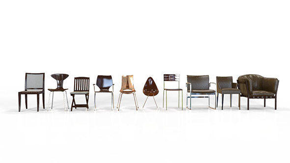 10 Chair Collection 1 - 3DOcean Item for Sale