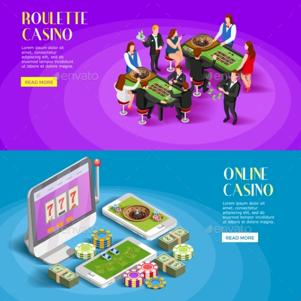 GraphicRiver Casino Isometric Banners Set 20439321