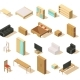 Furniture Isometric Elements Set