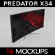 Curved Gaming Monitor  x 34 MockUp