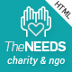 The Needs - Nonprofit, Charity, Crowdfunding HTML Site Template - ThemeForest Item for Sale