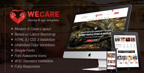 We Care - Charity, Nonprofit HTML Site Template